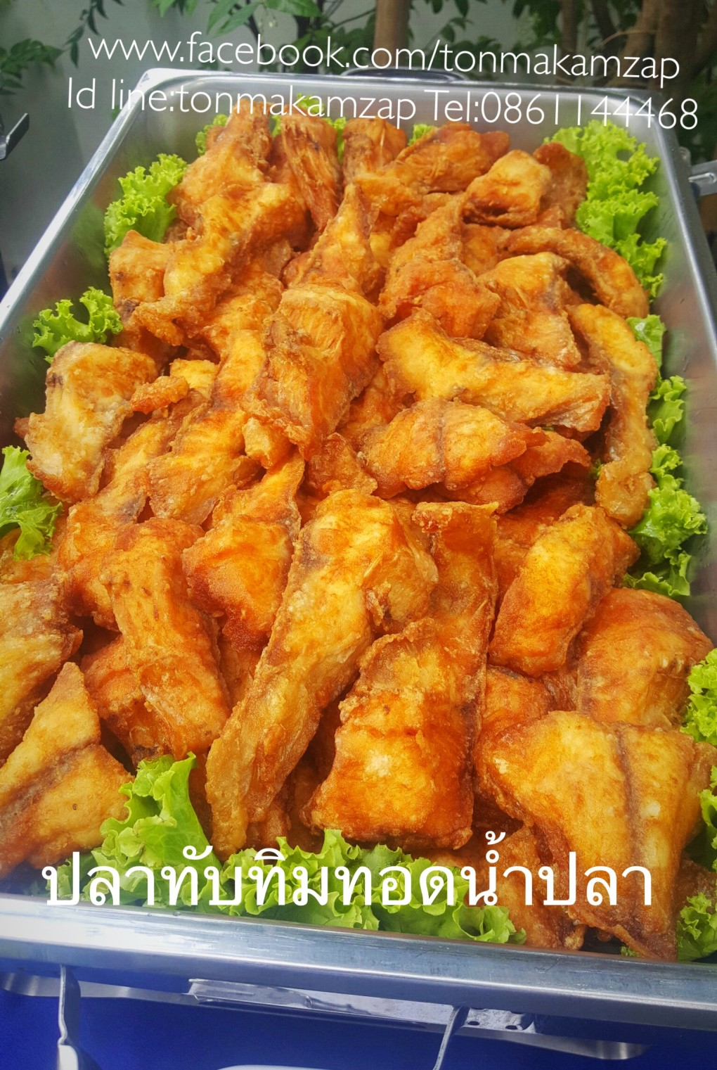 ปลาทับทิมทอดน้ำปลาเมนูอร่อยร้านต้นมะขาม