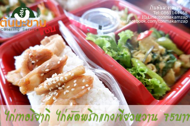 ไก่เทอริยากิไก่ผัดพริกแกงเขียวหวาน เมนูข้าวกล่องอร่อยๆโดยพ่อครัวแมว