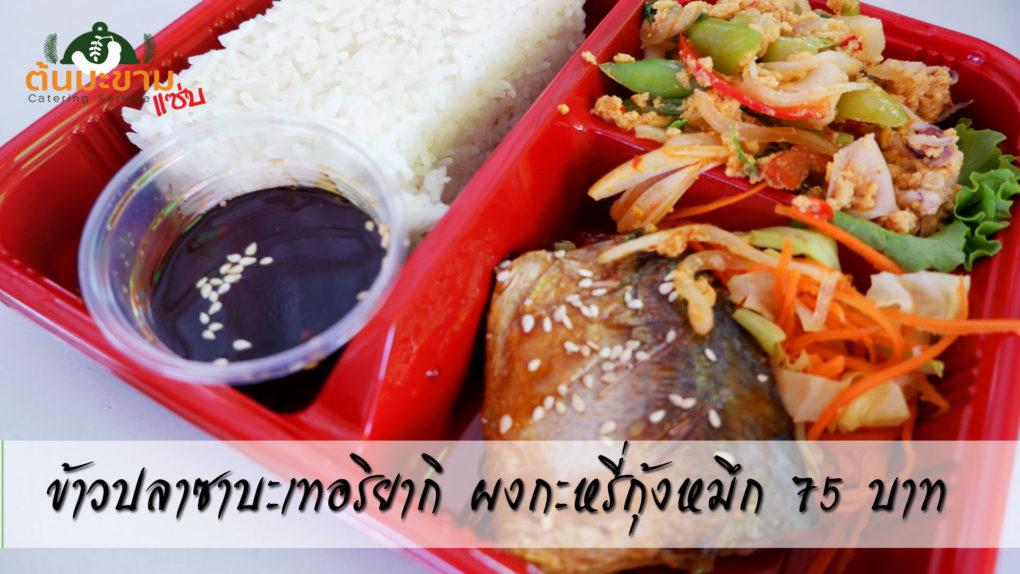 ข้าวกล่องน่ากิน ข้าวหน้าปลาซาบะญี่ปุ่น ผงกะหรี่กุ้งหมึก