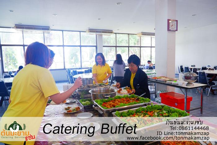 ตัวอย่าง catering Buffet อาหารอร่อยมากลูกค้าบอก