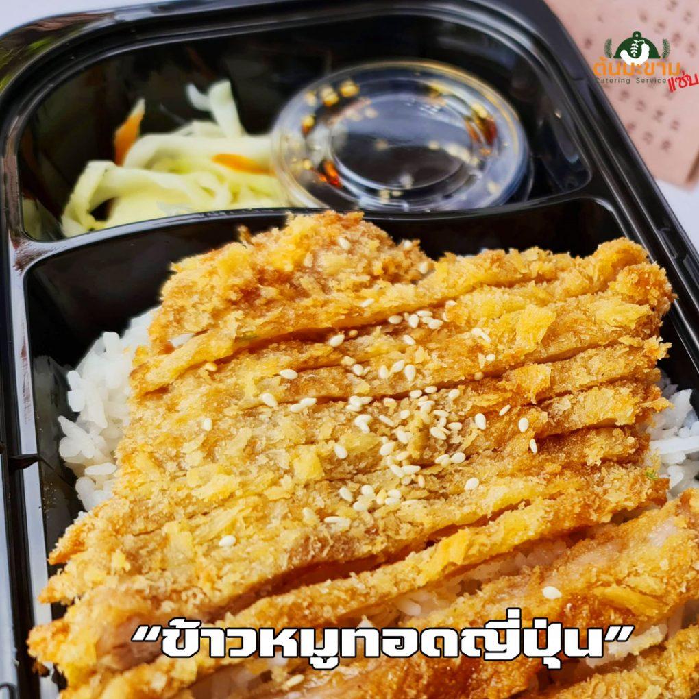 ข้าวหมูทอดญี่ปุ่น อร่อยๆพร้อมซอสและช้อนส้อม แถมให้ทุกกล่อง